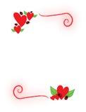 Corações e ladybugs Fotos de Stock Royalty Free