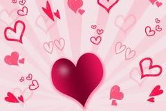 Corações e listras Imagens de Stock Royalty Free