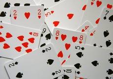 Corações e pás Fotografia de Stock Royalty Free