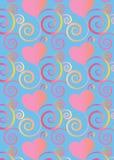 Corações e para florescer o fundo colorido do teste padrão para cartões e projetos festivos ilustração royalty free
