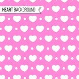 Corações e pontos do dia do ` s do Valentim no fundo cor-de-rosa macio, teste padrão sem emenda Ilustração do vetor Projeto român Foto de Stock Royalty Free