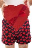 Corações e pugilistas do dia de Valentim foto de stock