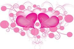 Corações e redemoinhos Fotografia de Stock Royalty Free