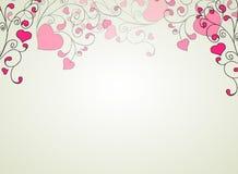 Corações e redemoinhos sobre em um fundo claro ilustração royalty free