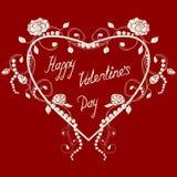 Corações e rosas Fotos de Stock Royalty Free