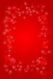 Corações e Sparkles   Ilustração do Vetor