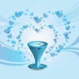 Corações e vidro Fotografia de Stock
