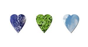 Corações ecológicos ilustração do vetor