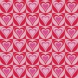 Corações em Circles_Red-Magenta ilustração royalty free