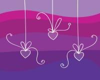 Corações em fitas Fotografia de Stock Royalty Free