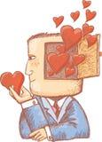 Corações em minha mente Fotos de Stock