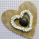 Corações em pied-de-poule fundo Imagem de Stock Royalty Free