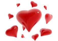 Corações em torno do coração Imagens de Stock