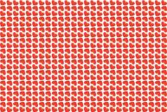 Corações em um fundo branco Imagens de Stock Royalty Free