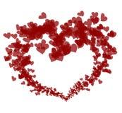 Corações encantadores Fotografia de Stock Royalty Free