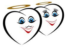 Corações engraçados. Fotos de Stock