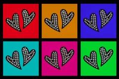 Corações escuros Imagem de Stock Royalty Free