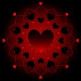 Corações escuros no laço Fotografia de Stock Royalty Free