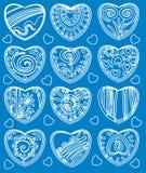 Corações estilizados para o projeto Imagens de Stock Royalty Free