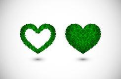Corações feitos das folhas Foto de Stock