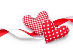 Corações feitos a mão do brinquedo do dia de Valentim Imagens de Stock Royalty Free