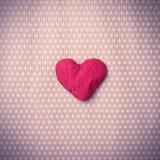 Corações feitos malha coloridos Fotografia de Stock