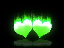 Corações flamejantes Imagem de Stock Royalty Free