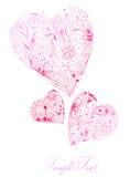 Corações florais Foto de Stock Royalty Free