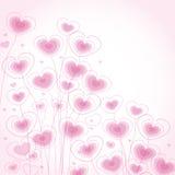Corações florais Ilustração Royalty Free