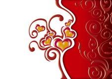 Corações florais Imagens de Stock Royalty Free