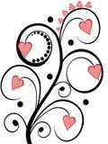 Corações florais Fotos de Stock Royalty Free