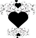 Corações florais ilustração do vetor