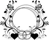 Corações florais ilustração stock