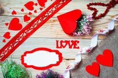 Corações, flores, fitas Foto de Stock Royalty Free