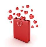 Corações fora do saco Ilustração Stock
