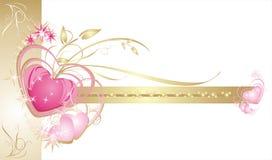 Corações. Frame decorativo. Cartão de casamento Foto de Stock