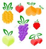 Corações - frutas Imagens de Stock