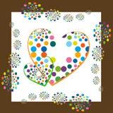 Corações Funky Imagens de Stock