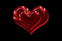 Corações gêmeos do amor fotos de stock