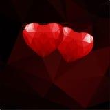 Corações geométricos Foto de Stock Royalty Free