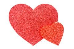 Corações grandes e pequenos Imagens de Stock Royalty Free