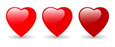 Corações - ilustração do dia dos Valentim Imagens de Stock Royalty Free