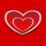 Corações. Ilustração do vetor Imagens de Stock