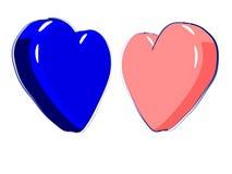 Corações ilustrados Foto de Stock
