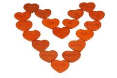 Corações inspirados Imagens de Stock