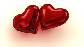 Corações Loving Imagens de Stock Royalty Free