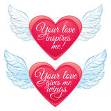 Corações Loving Foto de Stock