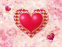 Corações luminosos ilustração stock