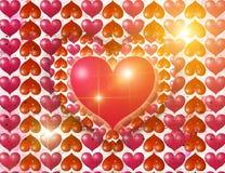 Corações luminosos ilustração do vetor