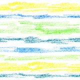 Corações, mão tirada em cores pastel do óleo, lápis da aquarela e waterco ilustração stock